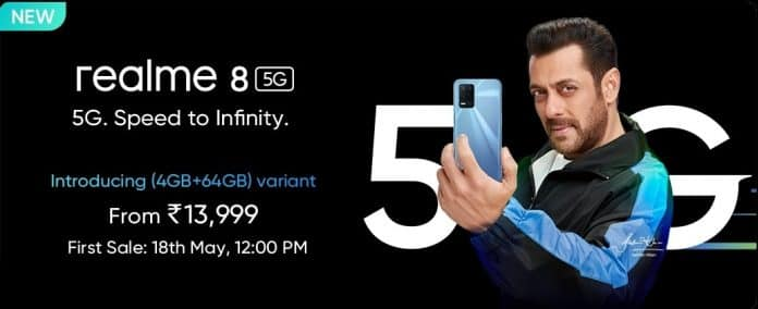 Realme 8 5G is now officially India's Cheapest 5G smartphone