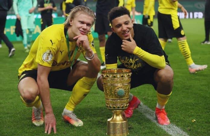RB Leipzig 1-4 Borussia Dortmund; Sancho and Haaland brace bags 5th Pokal title
