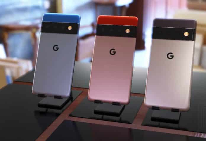 Google Pixel 6 live images appear in three different colors