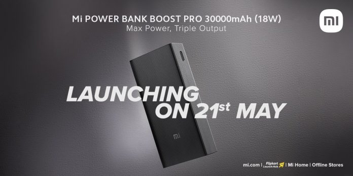 Mi Power Bank Boost Pro 3,000mAh (18W) launching in India on May 21