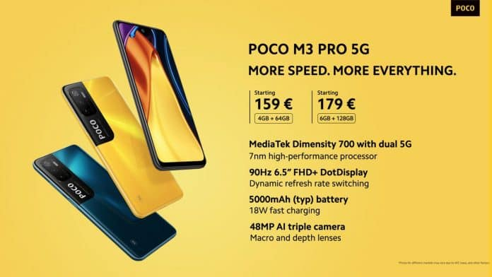 POCO M3 Pro 5G launched with Dimensity 700 SoC | Find Prices and specifications here