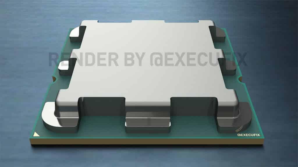 AMD Zen 4 Raphael processor's IHS design for AM5/LGA1718 package leaked