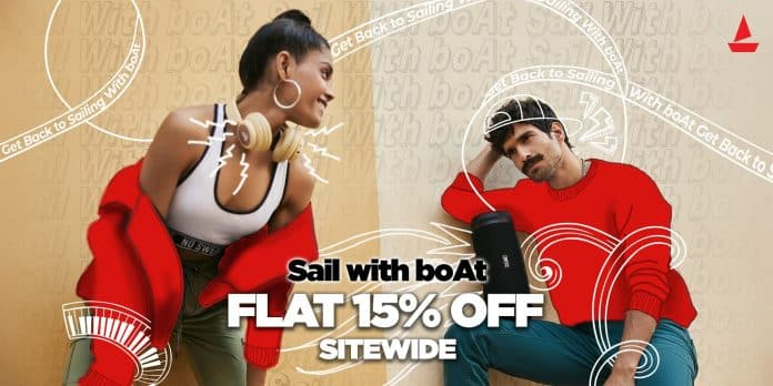 Get FLAT 15% off on any boAt products, here's how_TechnoSports.co.in