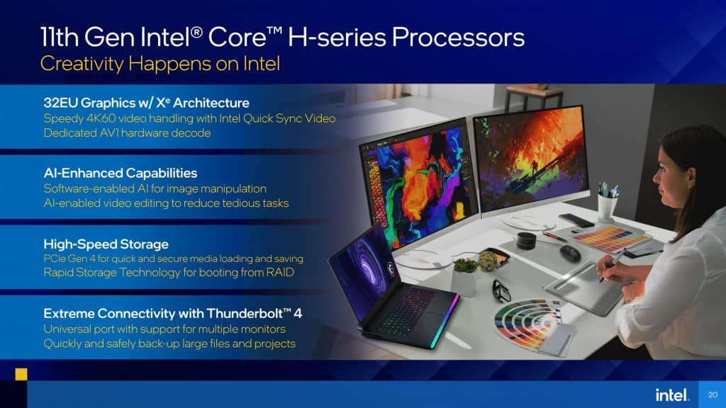 Intel claims to thrash AMD Ryzen 5000H processors in gaming with new Tiger Lake-H Mobile Processors