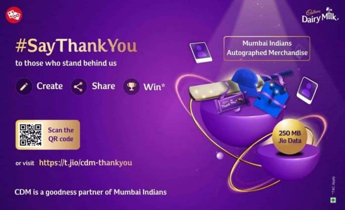 JioEngage-Mondelez Thank You campaign for smartphone users_TechnoSports.co.in