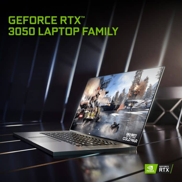 NVIDIA launches GeForce RTX 3050 series GPUs for laptops