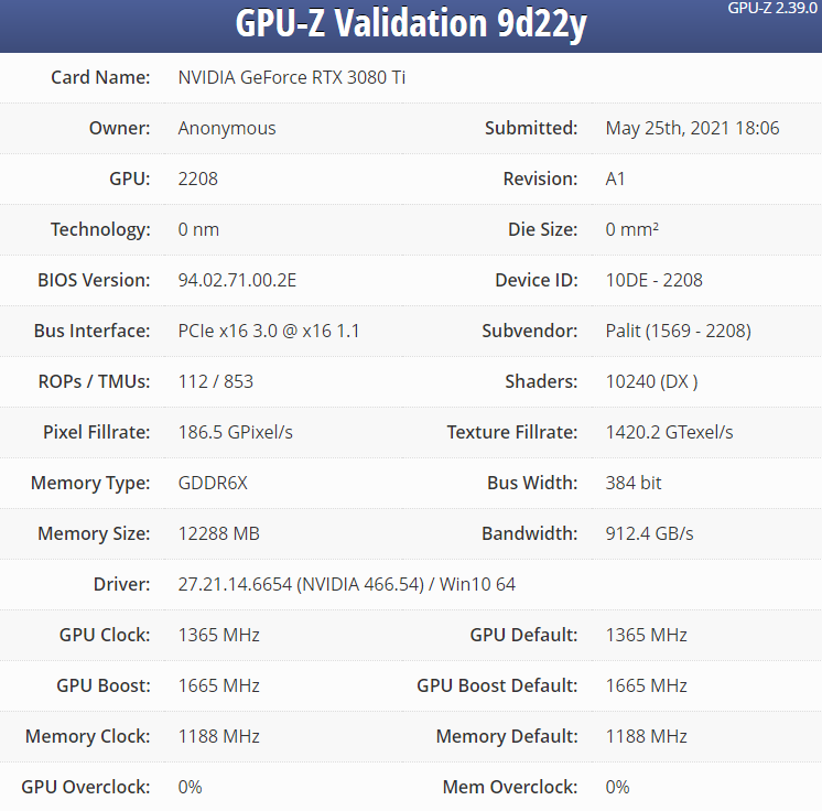 NVIDIA GeForce RTX 3080 Ti specs confirmed, performs almost like RTX 3090 in Geekbench