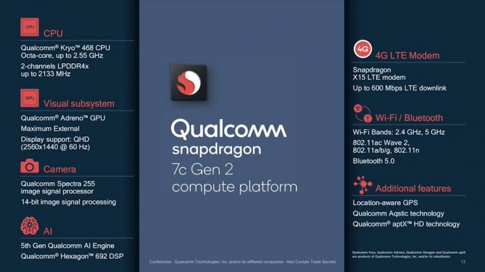 New Qualcomm Snapdragon 7c Gen 2 launched to power entry-level devices