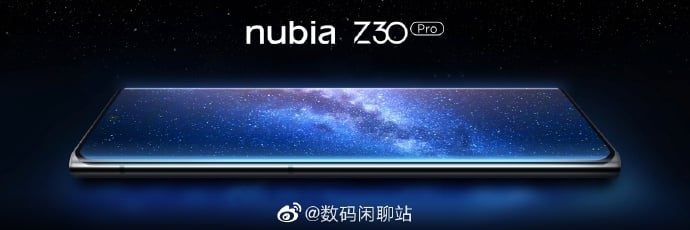 Nubia Z30 Pro confirmed with a centered punch-hole display
