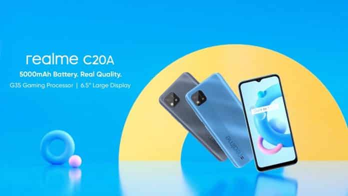Realme C20A with MediaTek Helio G35 launched as rebranded Realme C20