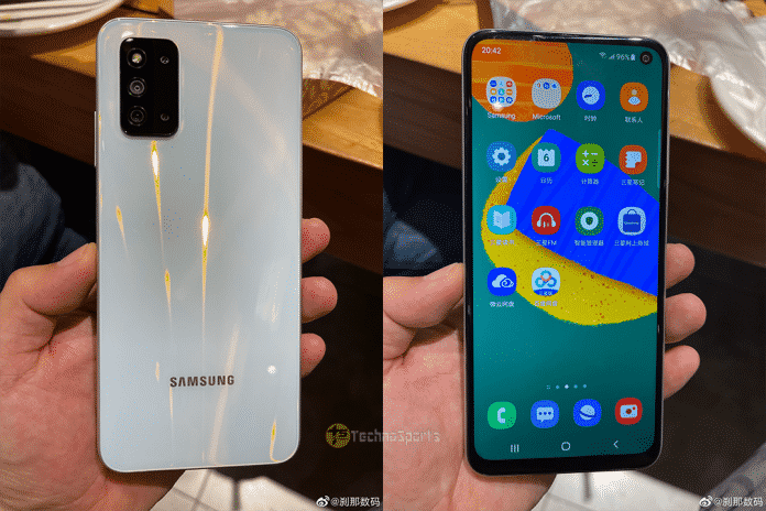Samsung Galaxy F52 5G live images leaked