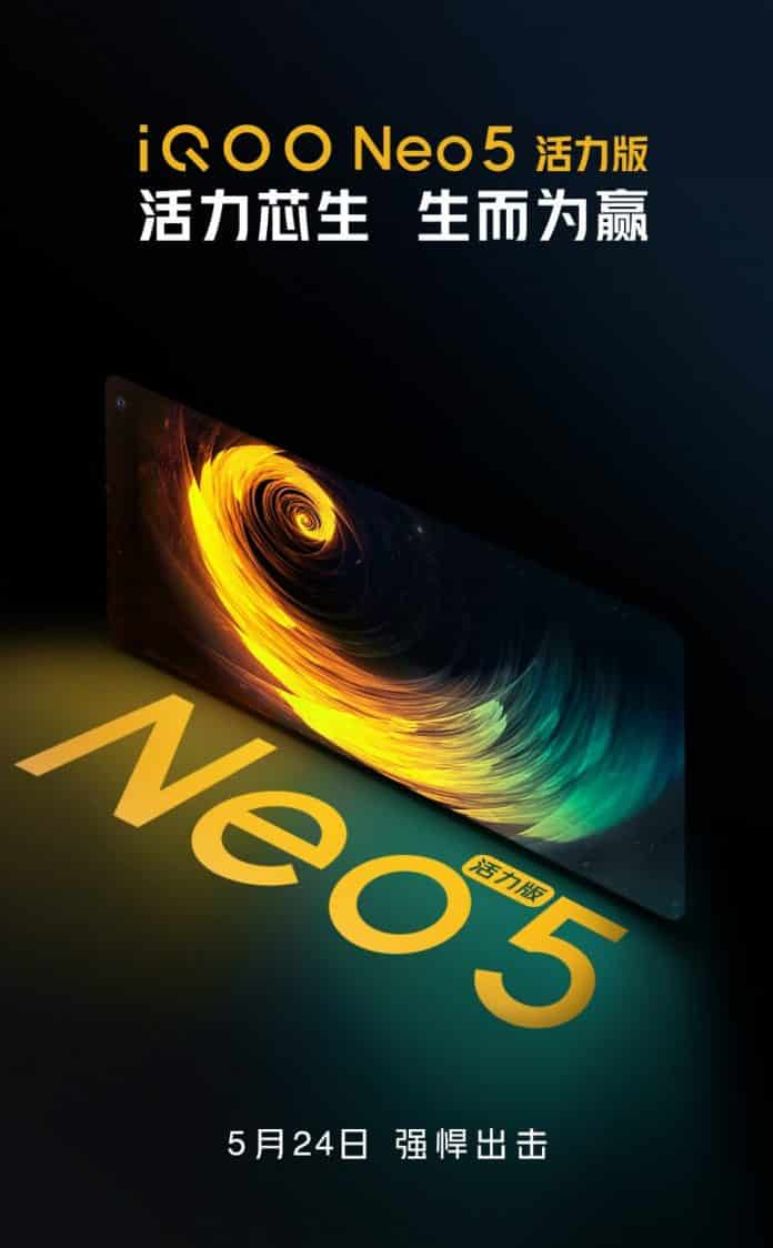 iQOO Neo 5 Vitality Edition Launching on 24th May in China