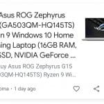 ASUS ROG Zephyrus G15 accidentally listed on Croma: India launch expected soon?