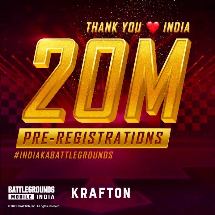 Battlegrounds Mobile India records 20 Million Pre-registrations in India