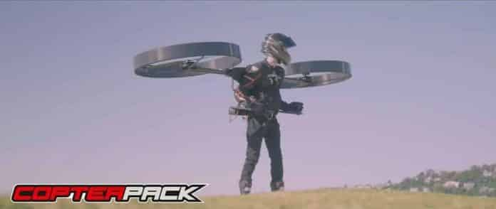 Flying Backpack named CopterPack takes its first flight in Australia