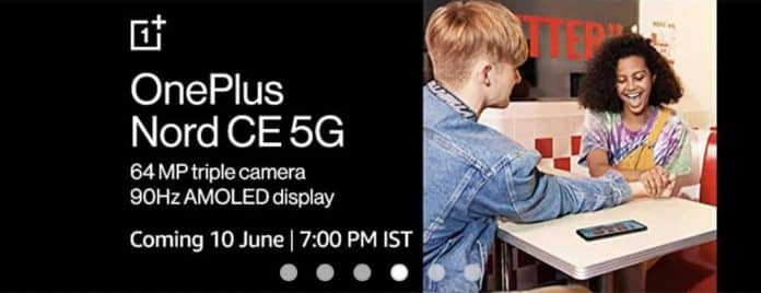 OnePlus Nord CE 5G confirmed with 64MP triple rear camera and 90Hz AMOLED