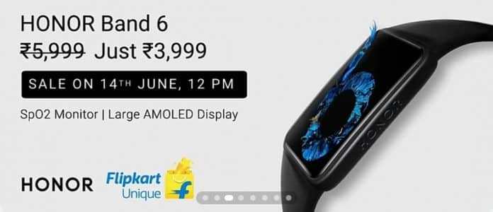 Honor Band 6 launches in India for 3,999 INR($55)