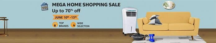 Amazon India announces 'Mega Home Shopping Sale' from 10th to 13th June