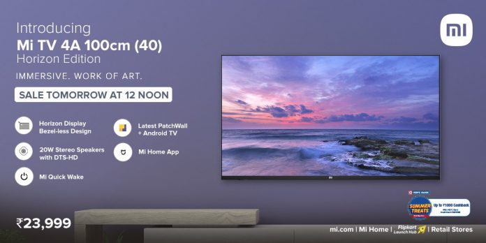 Mi TV 4A 40 Horizon Edition launched in India with Android-based UI