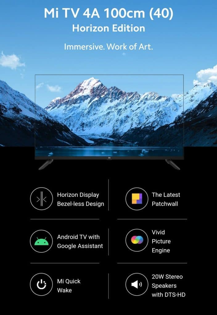 Mi TV 4A 40 Horizon Edition launched in India with Android based UI