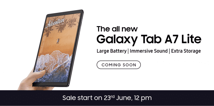 Samsung Galaxy Tab A7 Lite launching on June 23 in India