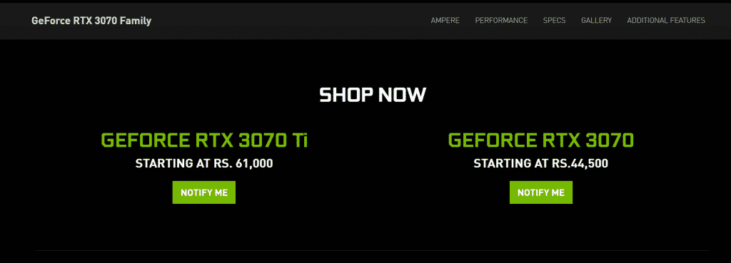 NVIDIA ridiculously prices the RTX 3070 Ti just Rs. 1000 ($14) less than of RTX 3080