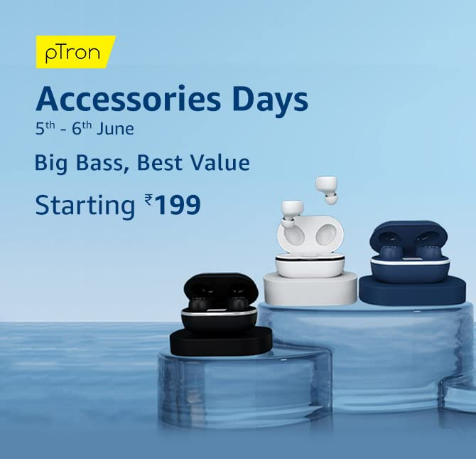 pTron Accessories Days is on, get yours at Rs.199_TechnoSports.co.in