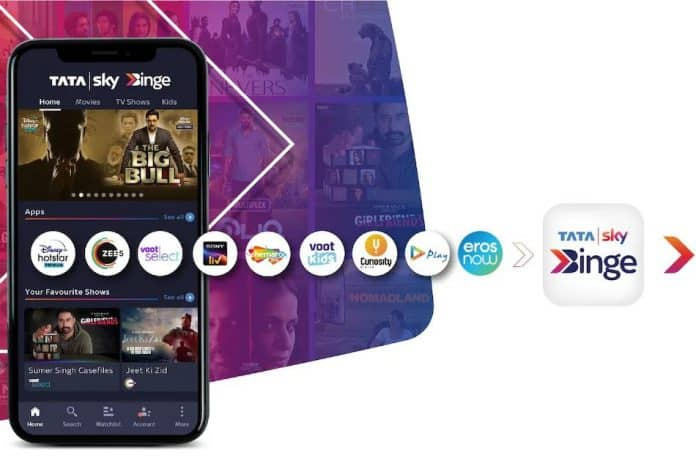 Tata Sky reveals Binge Mobile app to access multiple OTT platforms at a Low Cost